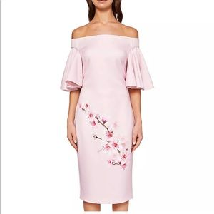 New Ted Baker Calinda Blossom Bardot Dress sz 2